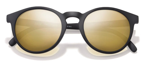 Sunski - Dipseas Black Sunglasses / Gold Polarized Lenses