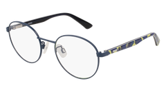 Puma - PJ0015O Junior Blue + Multi Color Eyeglasses / Demo Lenses