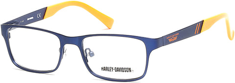Harley-Davidson - HD0125T Matte Blue Eyeglasses / Demo Lenses
