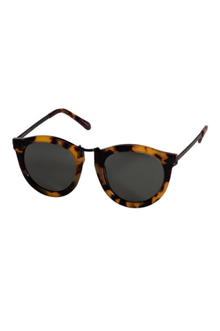 Karen Walker - Harvest Regular Fit Tortoise Black Sunglasses / Black Lenses