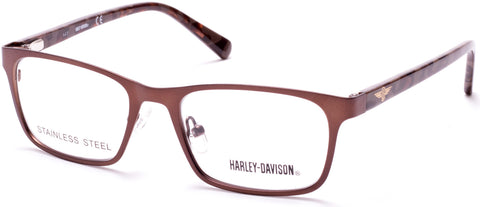 Harley-Davidson - HD0136T Matte Dark Brown Eyeglasses / Demo Lenses