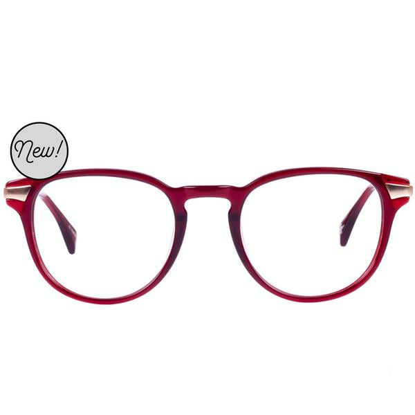 Proof - Heber Eco Rx Maroon Eyeglasses / Demo Lenses