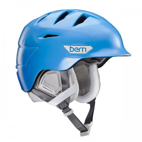Bern - Hepburn Satin Bright Blue Snow Helmet