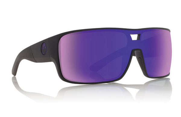 Dragon Hex Matte Black / Purple Ion Sunglasses