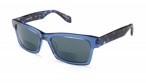 Scojo New York - Howard Sun Blue Mosaic Reader Sunglasses / Blue +2.00 Lenses