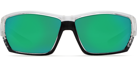 Costa - Tuna Alley Crystal Sunglasses / Green Polarized Plastic Lenses