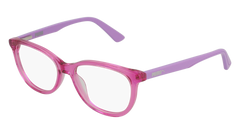 Puma - PJ0021O Junior Pink + Violet  Eyeglasses / Demo Lenses