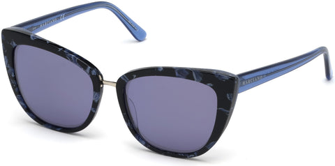 Marciano - GM0783 Turquoise Sunglasses / Smoke Mirror Lenses