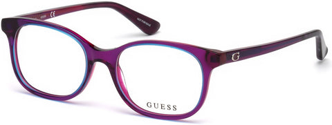 Guess - GU9176 Shiny Violet Eyeglasses / Demo Lenses