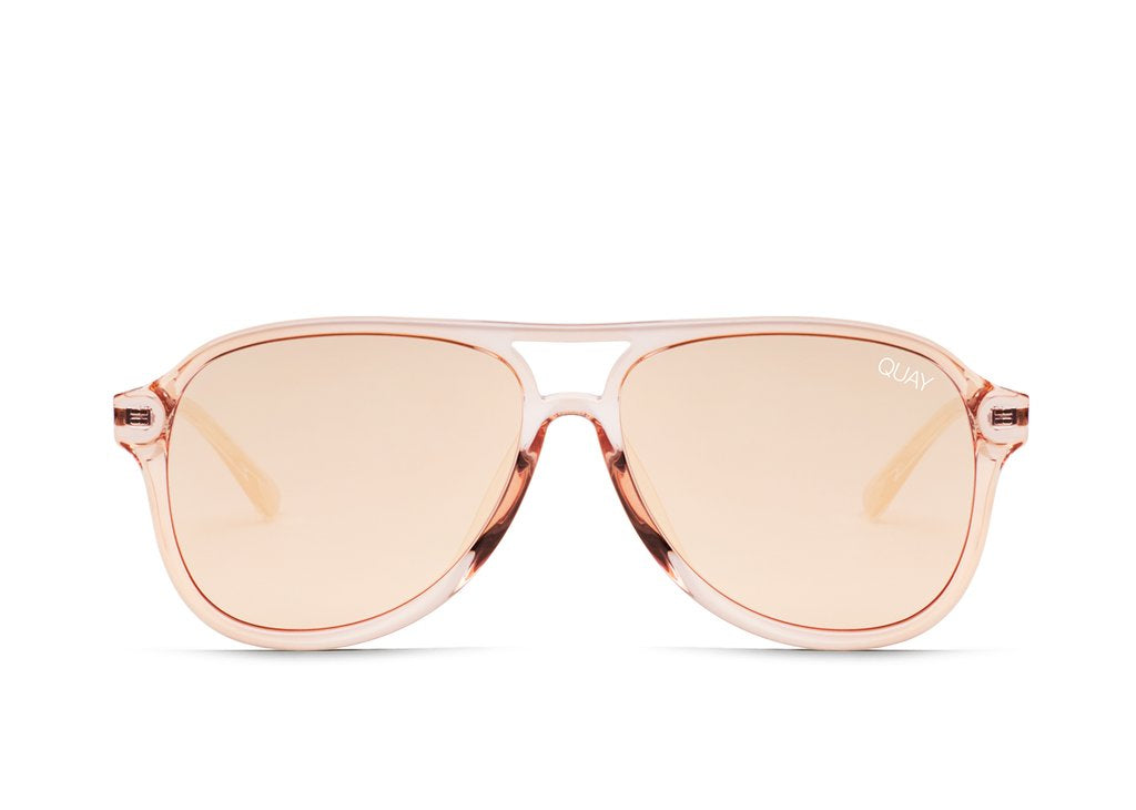 4a35794f0d4 Quay Under Pressure Champagne Sunglasses   Rose Lenses – New York Glass