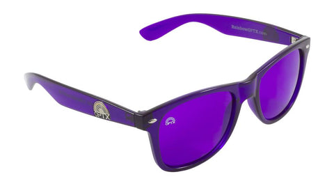RainbowOPTX - Translucent Transparent Sunglasses / Violet Lenses