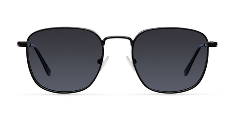 Meller - Lana 45mm All Black Sunglasses / Black Polarized Lenses