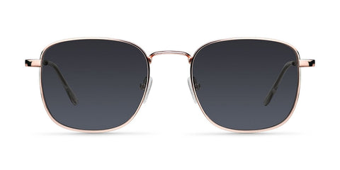 Meller - Lana 45mm Rose Gold Carbon Sunglasses / Black Polarized Lenses