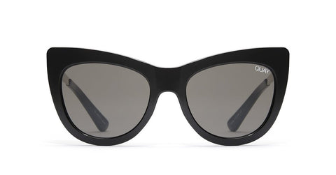 Quay Steal A Kiss Black Sunglasses / Smoke Lenses
