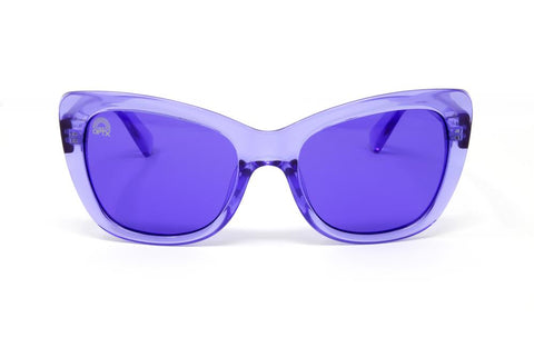 RainbowOPTX - Vega Transparent Indigo Sunglasses / Indigo Lenses