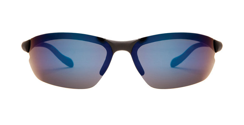 Native - Dash XP Matte Black Sunglasses, Blue Reflex Lenses