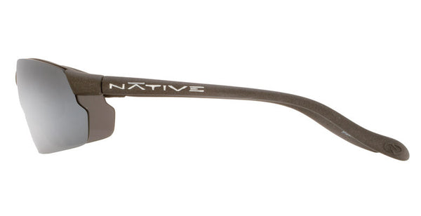 Native - Dash XP Charcoal Sunglasses, Silver Reflex Lenses