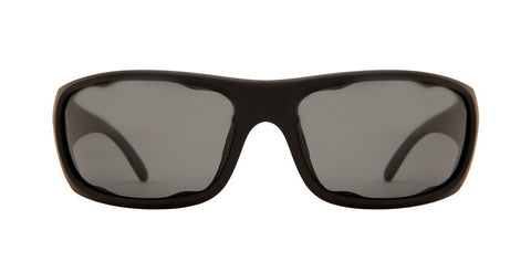 Native Bomber Matte Black Sunglasses, Gray Lenses