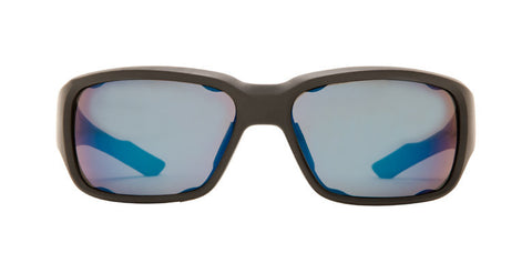 Native - Bolder Matte Black Sunglasses,  Blue Reflex Lenses