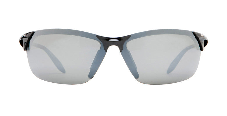 Native - Vigor Gloss Black Sunglasses, Silver Reflex Lenses