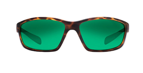 Native Kodiak Desert Tortoise Sunglasses, Green Reflex Lenses