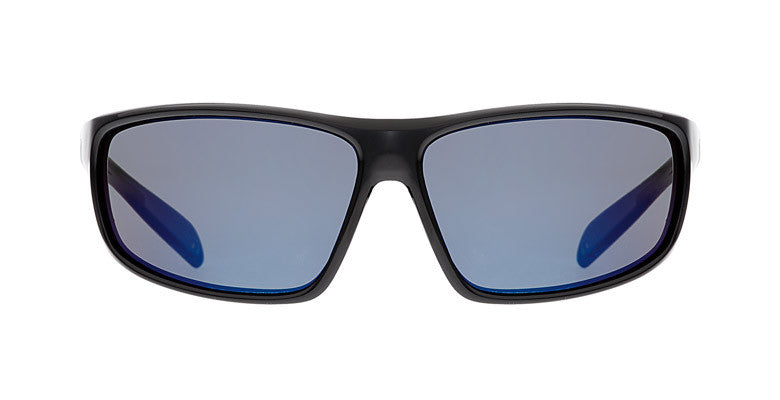 Native - Bigfork Gloss Black Sunglasses, Blue Reflex Lenses