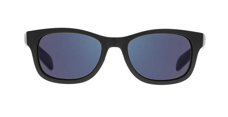 Native Highline Matte Black Sunglasses, Blue Reflex Lenses