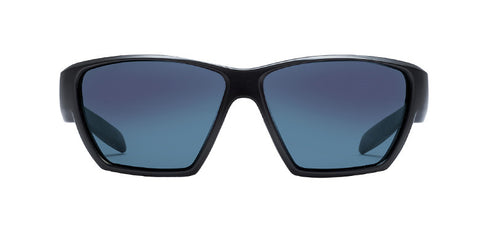Native - Ward Matte Black Sunglasses, Blue Reflex Lenses