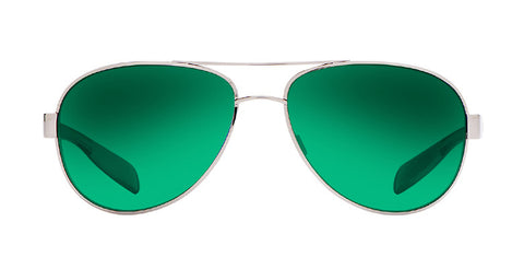 Native - Patroller Gunmetal/Gloss Black Sunglasses, Green Reflex Lenses