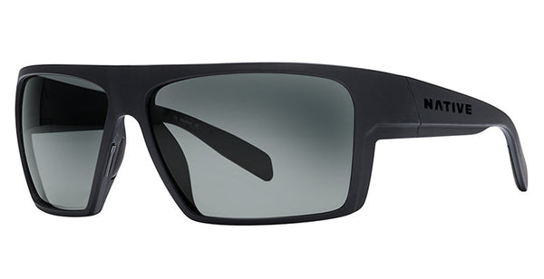Native - Eldo Matte Black Sunglasses, Gray Lenses