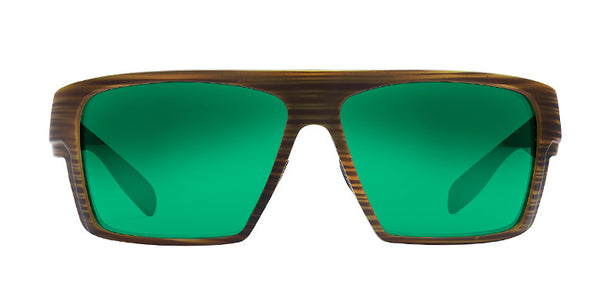 Native - Eldo Wood Sunglasses, Green Reflex Lenses