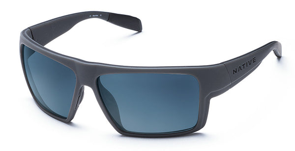 Native - Eldo Granite Sunglasses, Blue Reflex Lenses