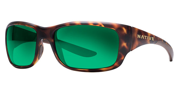 Native - Kannah Desert Tort Sunglasses, Green Reflex Lenses