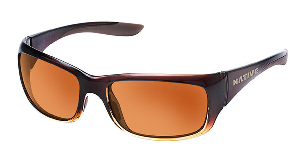 Native - Kannah Stout Fade Sunglasses, Brown Lenses