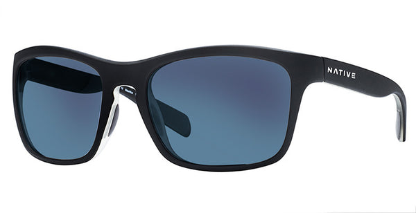 Native - Penrose Matte Black Sunglasses, Blue Reflex Lenses