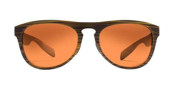 Native - Sanitas Wood Sunglasses, Bronze Reflex Lenses