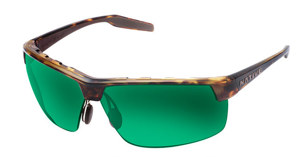 Native - Hardtop Ultra XP Desert Tort Sunglasses, Green Reflex Lenses