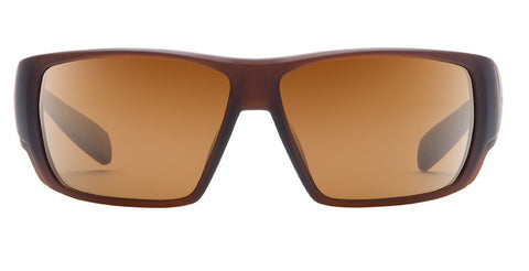 Native - Sightcaster Matte Brown Crystal Sunglasses, Brown N3 Lenses