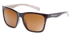 Native - Braiden Maple Tort Sunglasses, Brown Lenses