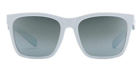 Native - Braiden Matte White Sunglasses, Silver Reflex Lenses