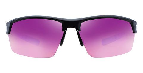 Native - Catamount Matte Black + Crystal Sunglasses / Violet Reflex Lenses