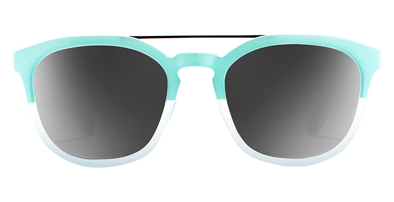 Native - Sixty-Six Matte Mint + Crystal Sunglasses / Gray Lenses