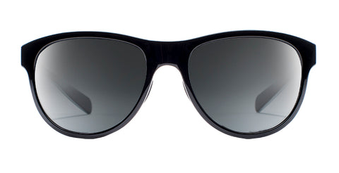 Native - Acadia Gloss Black + White Sunglasses / Gloss Black + Gray Lenses