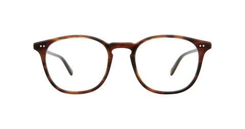 Garrett Leight - Justice 49mm Red Tortoise Eyeglasses / Demo Lenses