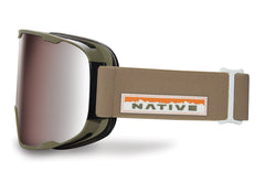Native - Treeline Hawkeye Goggles, Silver Mirror Lenses