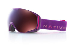 Native - Upslope Purple Totem Goggles, Blue Mirror Lenses