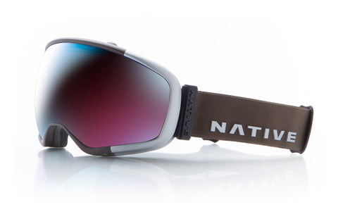 Native - Tank7 Aluminum Goggles, Blue Mirror Lenses