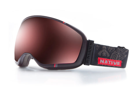 Native - Tank7 T-Bird Goggles, Rose React Lenses