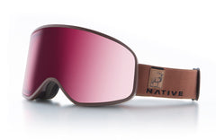 Native - Tenmile Exposure Goggles, Silver Mirror Lenses