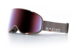 Native - Tenmile Insignia Goggles, Blue Mirror Lenses